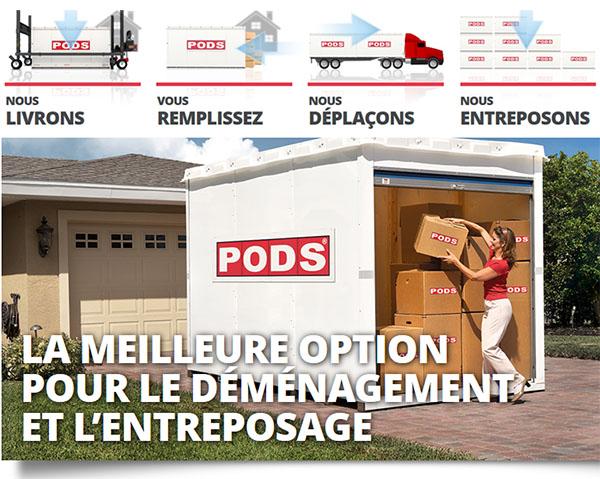 PODS Québec Déménagement Entreposage