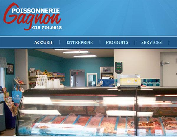 Poissonnerie Gagnon en ligne