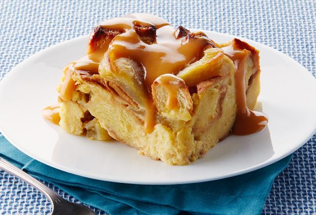 Photo Recette Pouding au Pain aux Pommes à la Mijoteuse et Sauce au Caramel Écossais