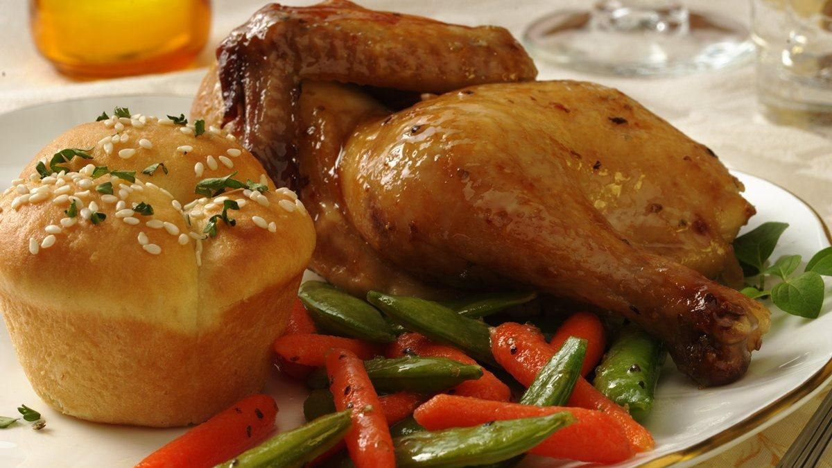Poulet de Cornouailles aux Légumes Rôtis ( Pâques )