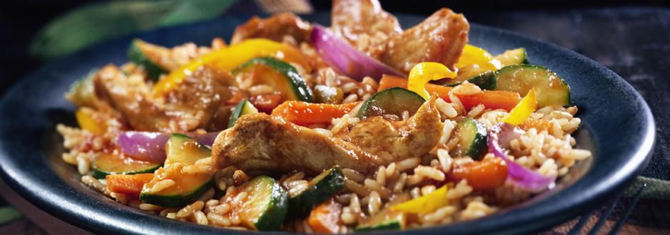 Poulet et riz à L'espagnole