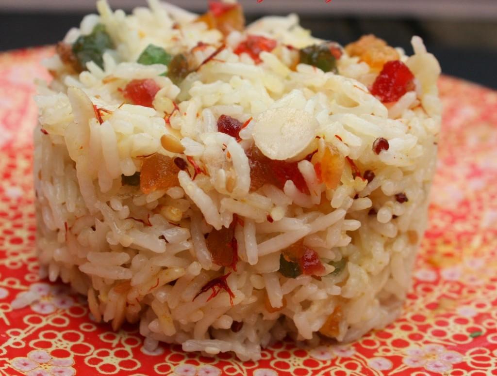 Riz Basmati au Safran et Fruits Confits