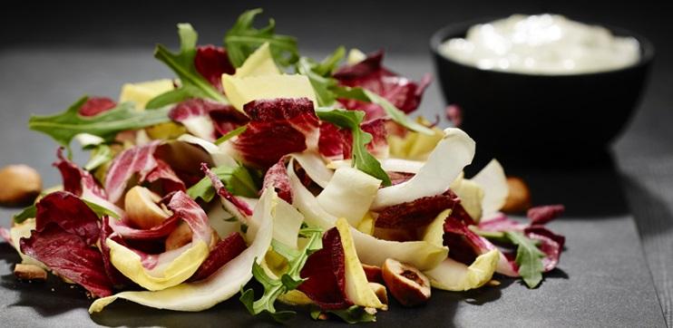 Salade D'Endives et Poires, Vinaigrette au Bleu