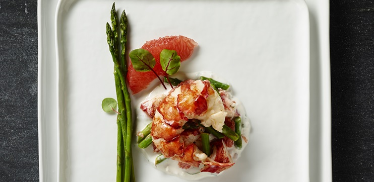 Salade de Homard, Pamplemousse et Asperges
