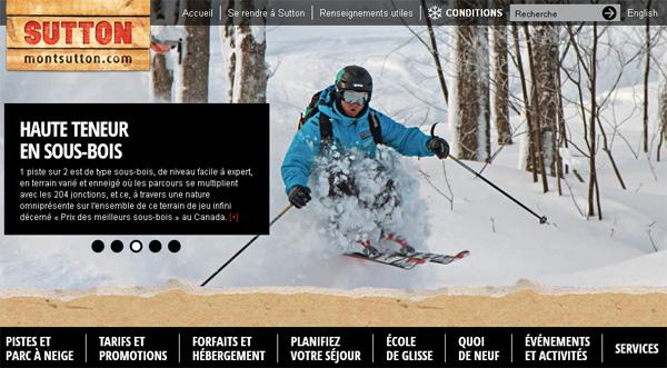 Ski Mont Sutton en ligne
