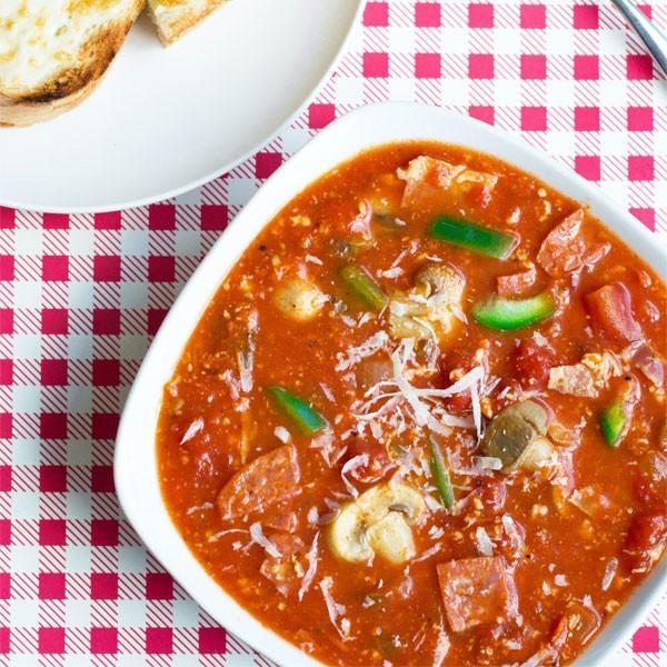Photo Recette Soupe à Saveur de Pizza