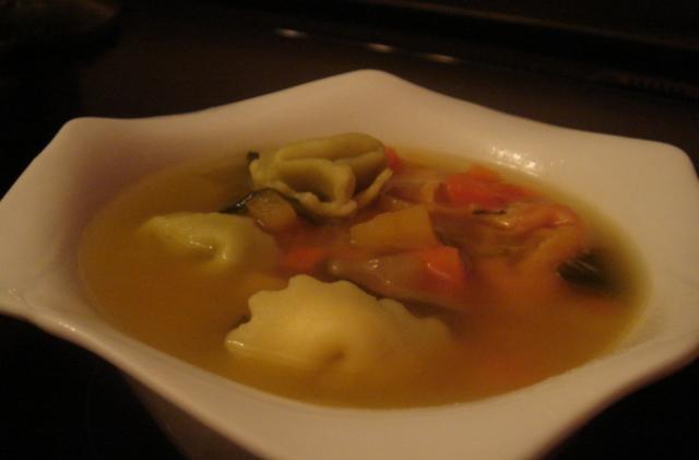 Soupe aux Tortellinis et Légumes