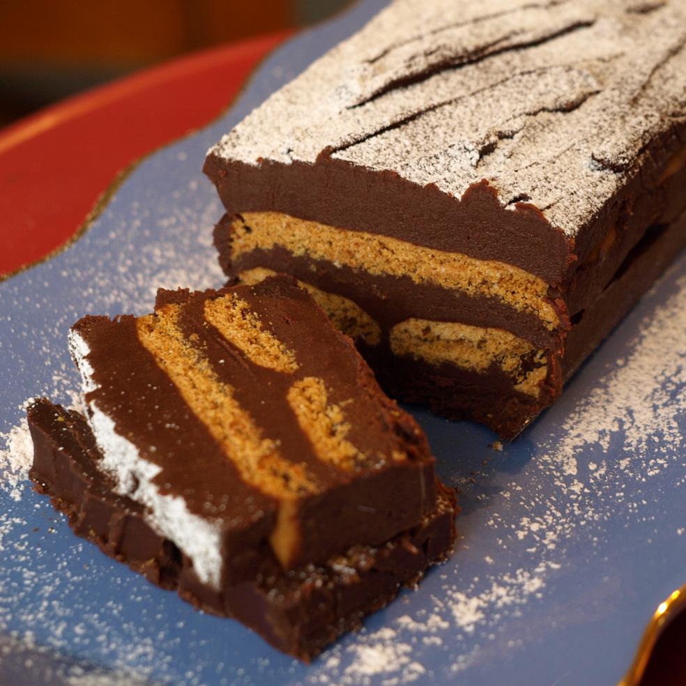 Terrine de Chocolat Noir au Spéculoos