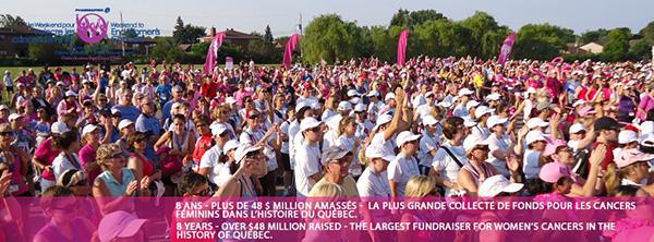Week-end pour vaincre les cancers féminins de Montréal