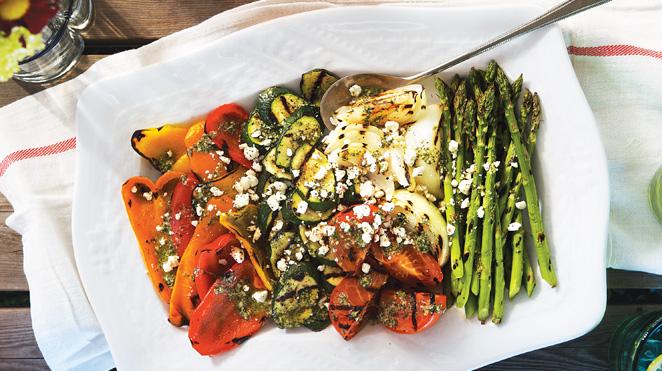 Assiette Estivale de Légumes Grillés