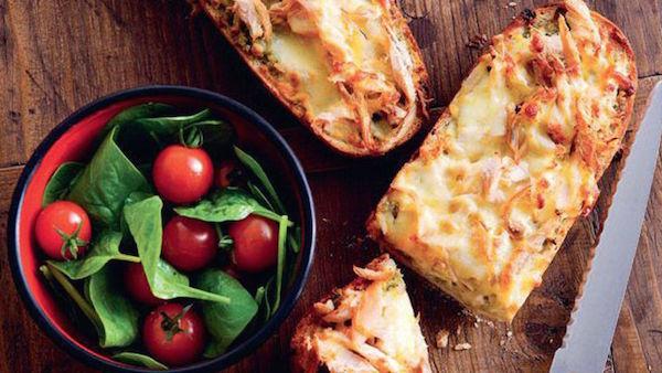 Baguette aux Miettes de Dinde et Pesto