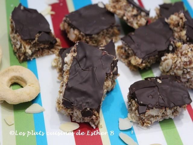 Photo Recette Barres Tendres sans Cuisson Pomme-chocolat