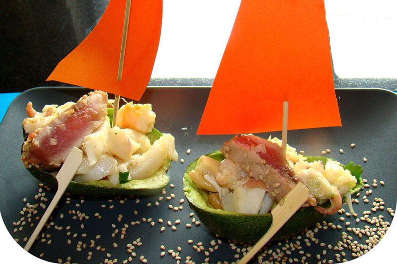 Photo Recette Bateaux d'Avocats au Thon et Fruits de Mer
