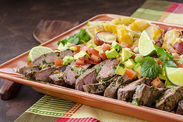 Bifteck de Flanc Grillé à la Cubaine