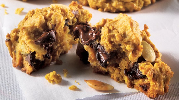 Biscuits à la Citrouille et aux Pépites de Chocolat Noir