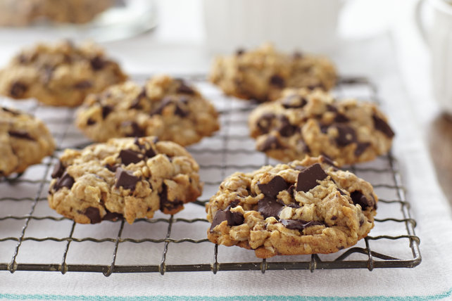 Photo Recette Biscuits à L'avoine, au Beurre D'arachide et au Chocolat