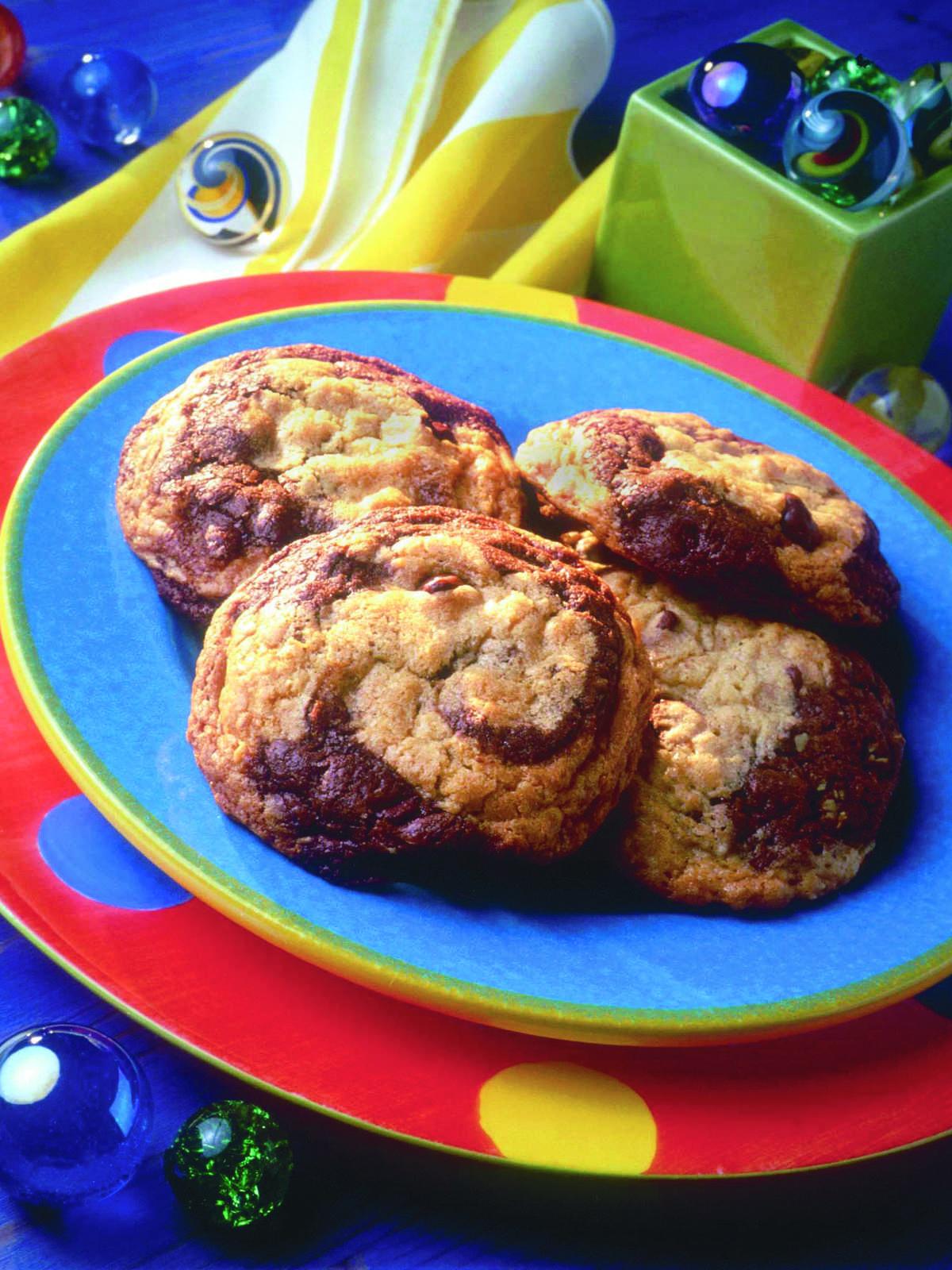 Biscuits au Gruau Marbrés aux Brisures de Chocolat