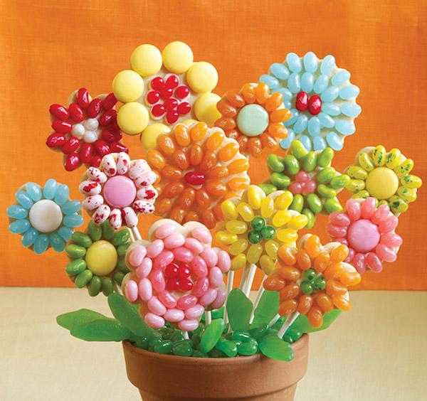 Biscuits Sucettes en Forme de Fleurs Jelly Belly