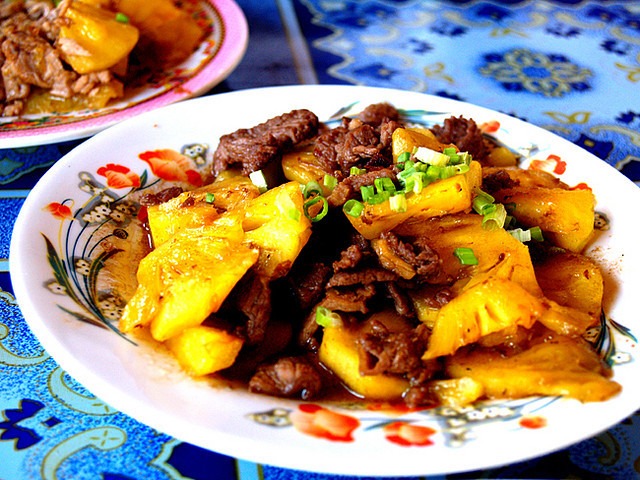Boeuf Sauté à L'ananas