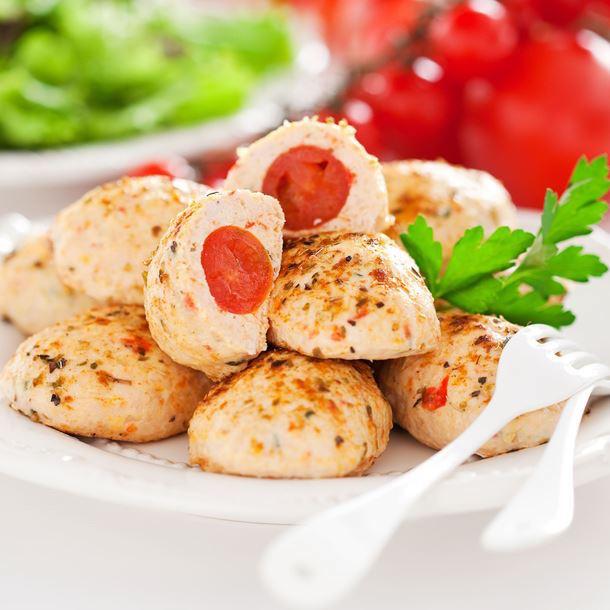Boulettes de Poulet aux Tomates Cerise