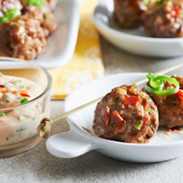Boulettes de Viande à la Sauce Thaïlandaise pour Tremper