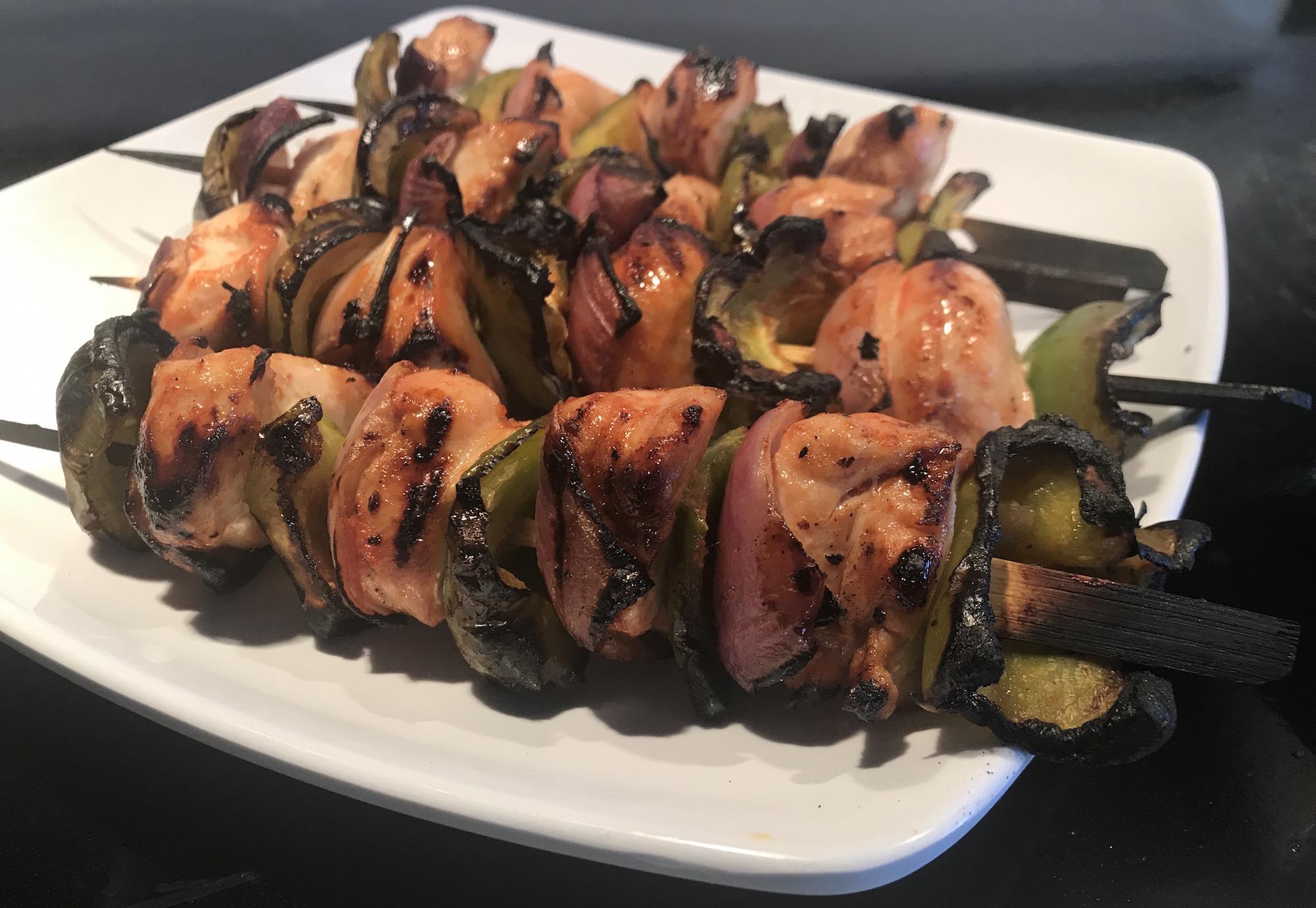 Brochette de Poulet et Légumes sur le BBQ