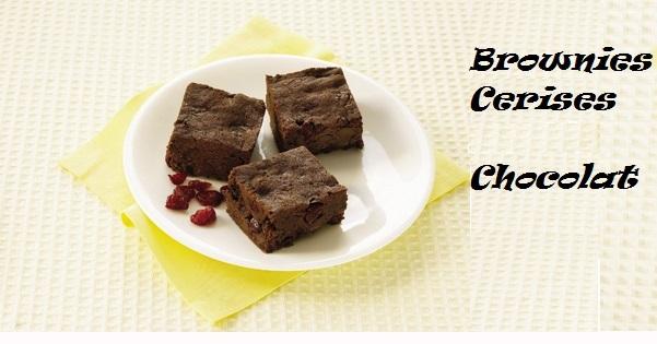 Photo Recette Brownies au Chocolat et aux Cerises