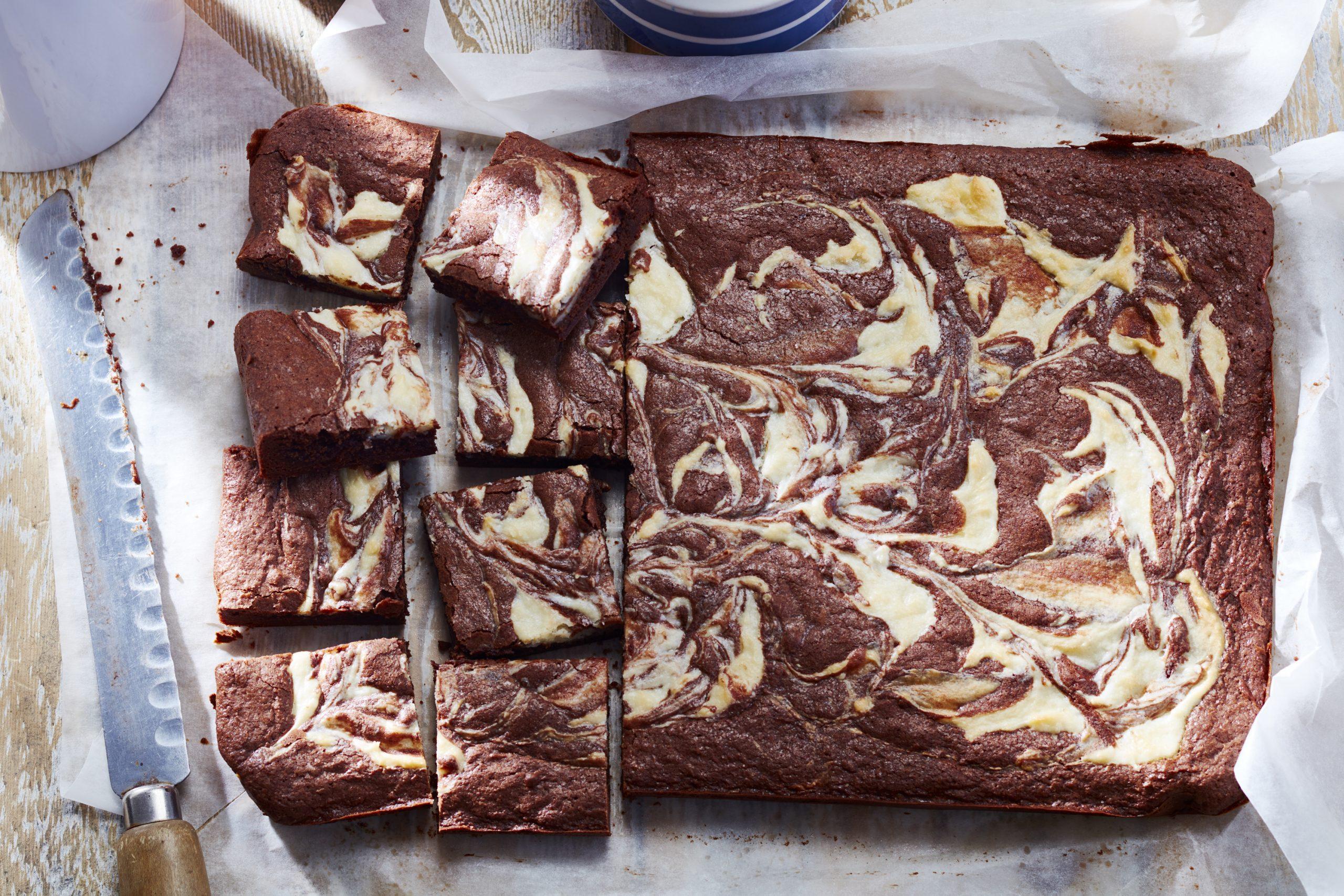Brownies au Chocolat Marbrés de Fromage à la Crème