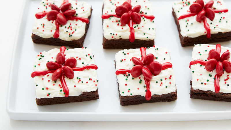 Brownies en Forme de Cadeau de Noël Faciles à Préparer