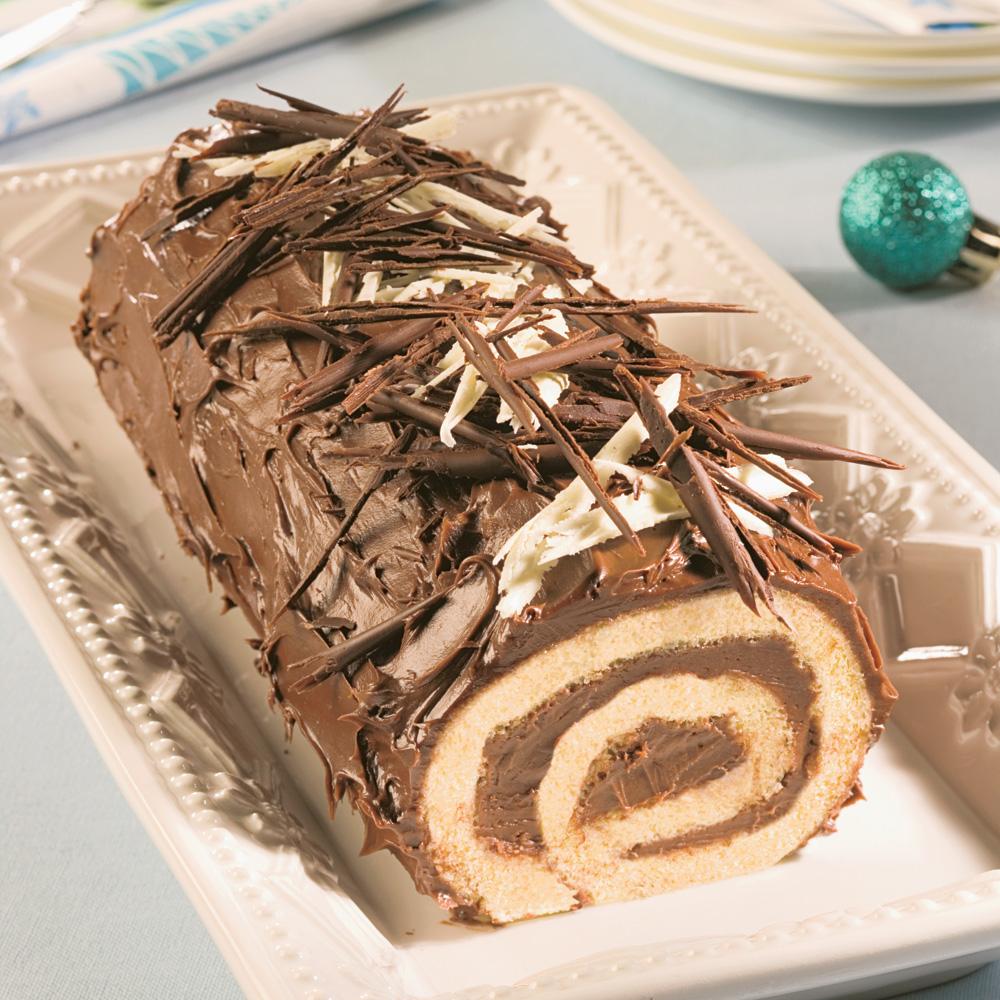 Bûche de Noël Choco-Érable