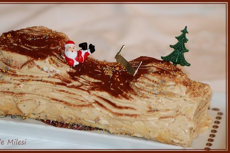 Bûche de Noel au Caramel au Beurre Salé