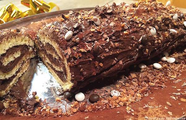 Photo Recette Bûche de Noël Sans Sucre Ajouté et Sans Gluten