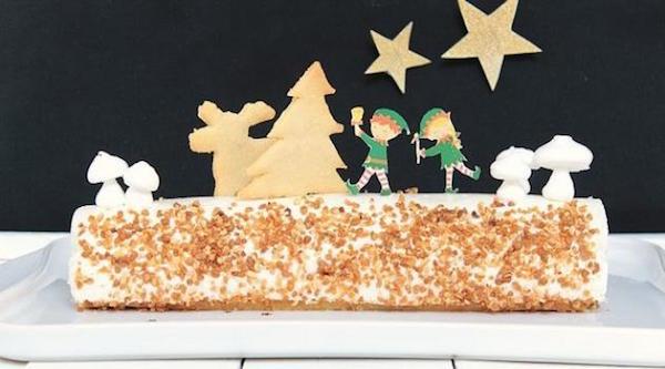 Bûche de Noël Vanille & Caramel au Beurre Salé