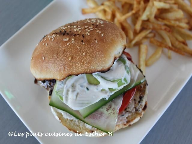 Photo Recette Burger de Poulet à la Grecque
