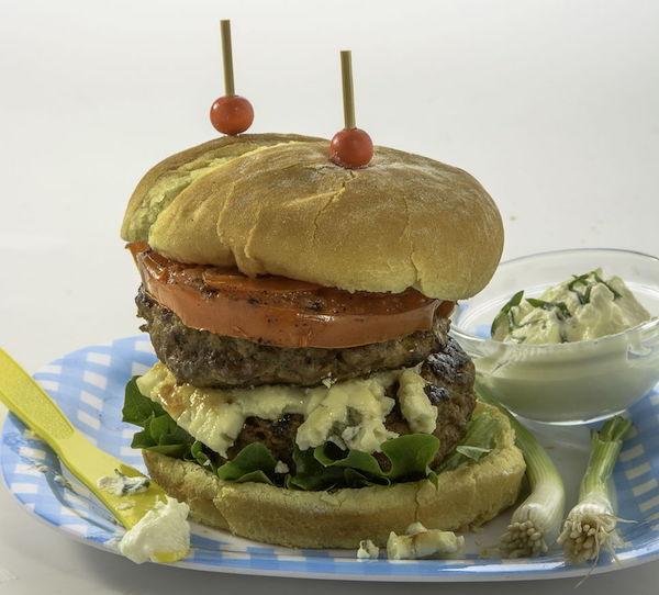 Burger Double au Fromage Bleu