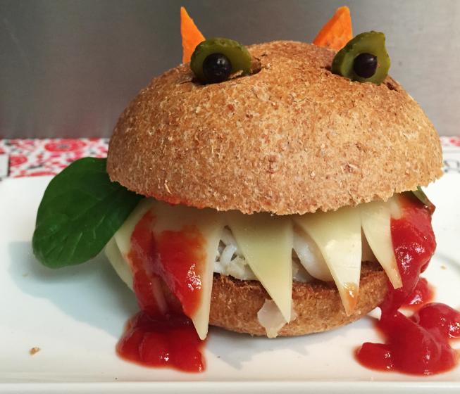 Photo Recette Burger Dracula pour Halloween