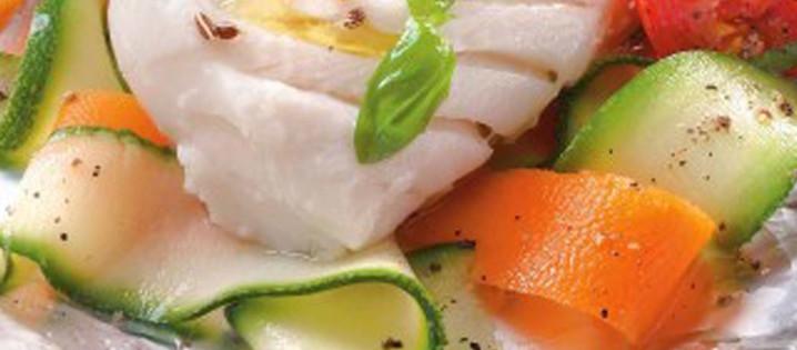 Cabillaud et Tagliatelles de Légumes
