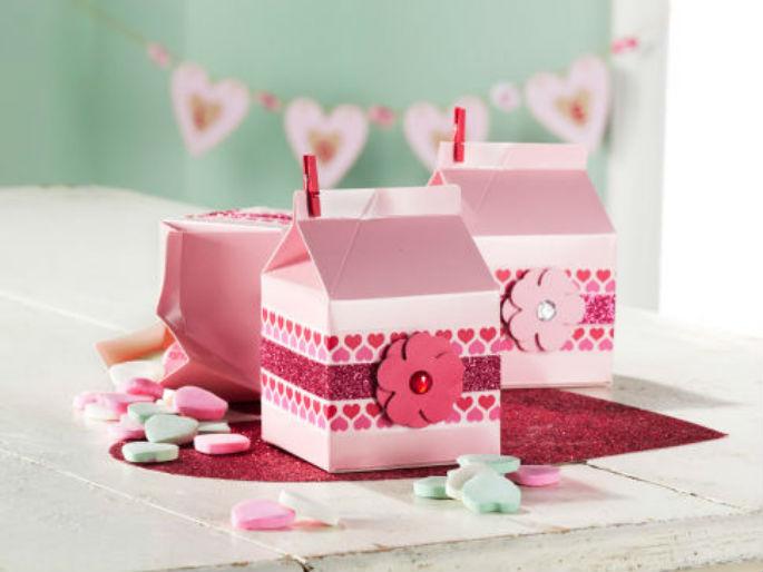 Cadeaux de la Saint-Valentin en Cartons à Lait