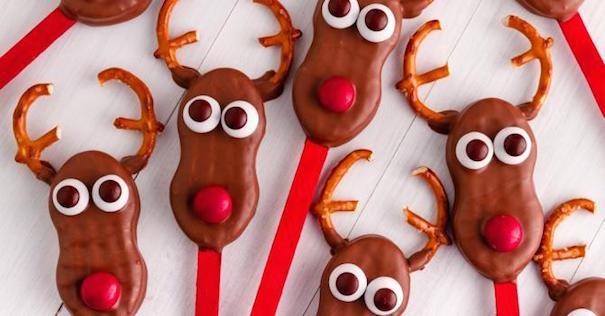 Cake Pops Façon Cerf pour Noël