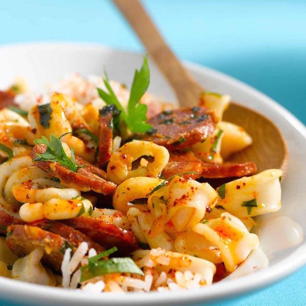Calamars à L'ail et Chorizo
