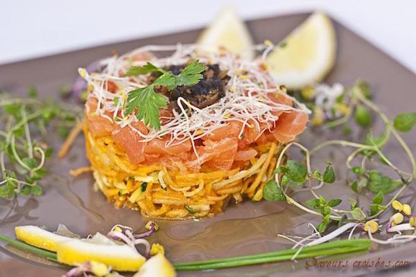 Carpaccio de Légumes et Saumon Fumé pour une Entrée Colorée et Vitaminée
