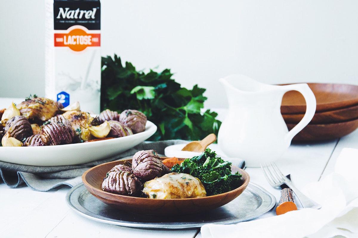 Casserole de Poulet et sa Sauce Crémeuse