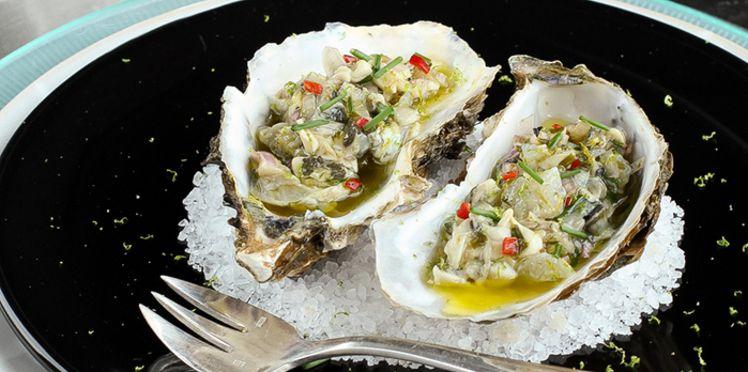 Céviche D'huîtres aux Citron Vert et Gingembre