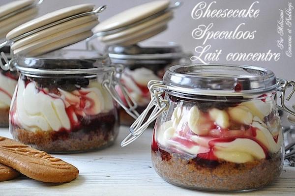 Photo Recette Cheesecake Sans Cuisson en Verrines aux Spéculoos et Lait Concentré Sucré