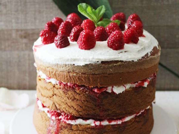 FÊTES DES MÈRES: CHIFFON CAKE AUX FRAMBOISES & SIROP DE FRAMBOISES-ROSE