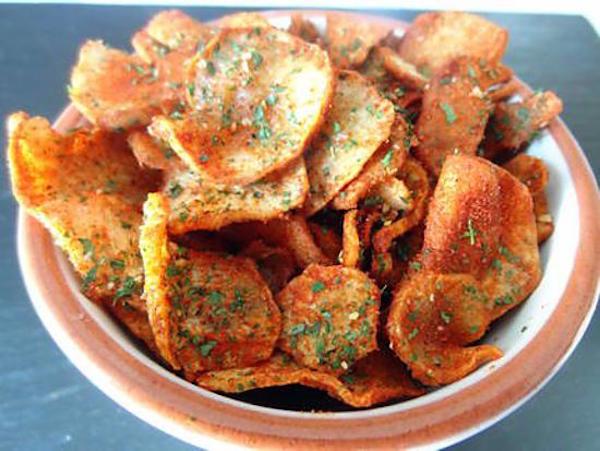 Chips de Topinambours au Paprika ou Curry