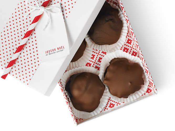 Chocolats au Caramel et aux Noix