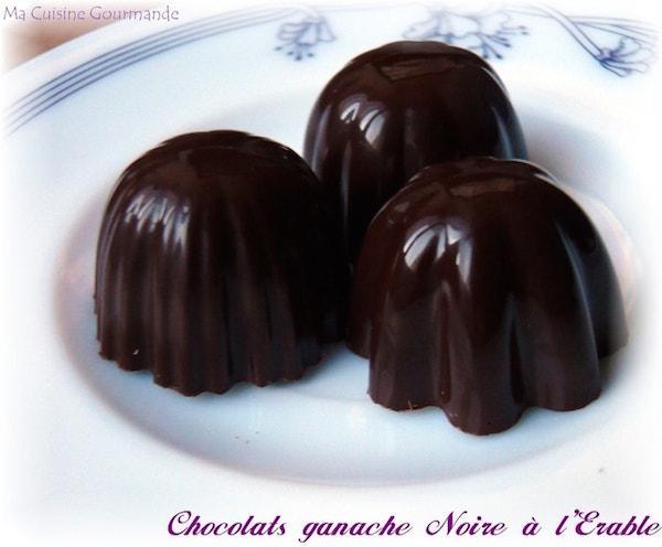 Chocolats Ganache Noire à L'érable