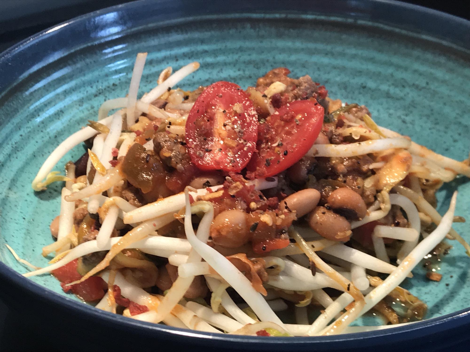 Chop Suey à la Sauce Salsa et Légumineuses