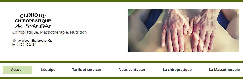 Clinique Chiropratique Aux Petits Soins en Ligne